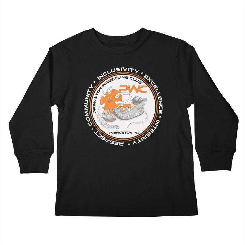 PWC Logo Dark Shirts and Lounge Pants  Kids Longsleeve T-Shirt by PWC's Artist Shop