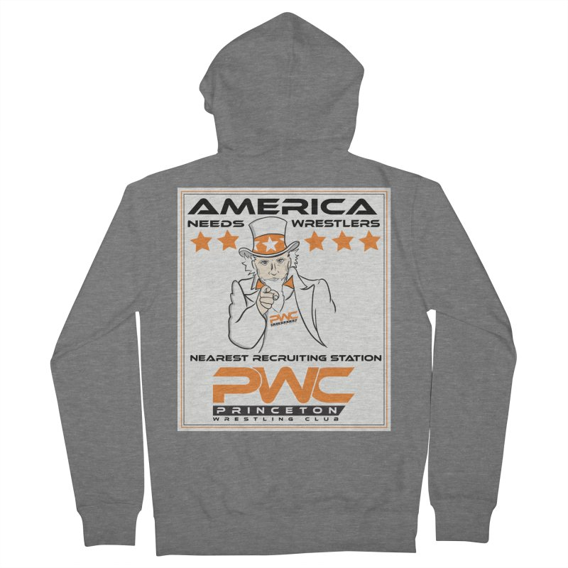 Uncle Sam Logo  Women's French Terry Zip-Up Hoody by PWC's Artist Shop