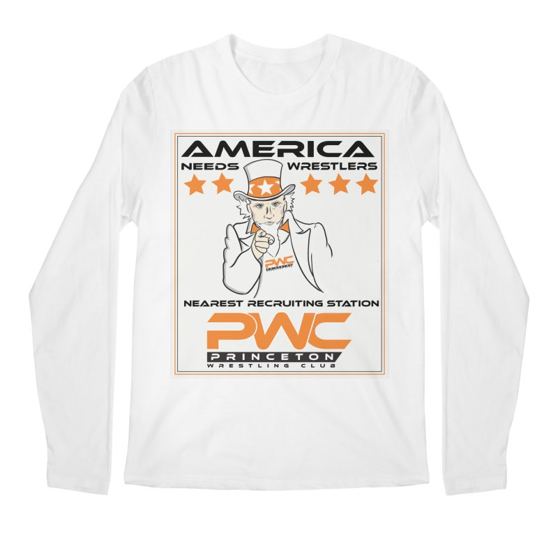 Uncle Sam Logo  Men's Regular Longsleeve T-Shirt by PWC's Artist Shop