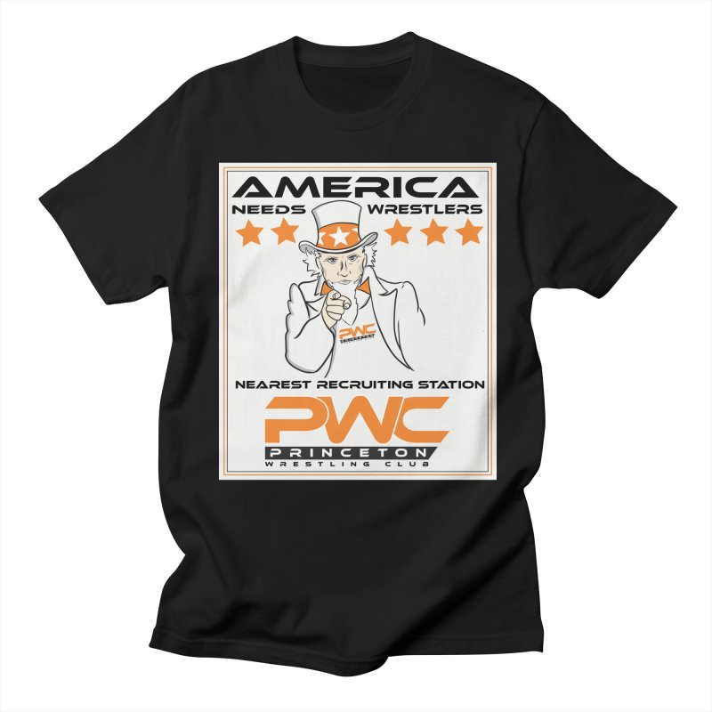 Uncle Sam Logo  Men's T-Shirt by PWC's Artist Shop
