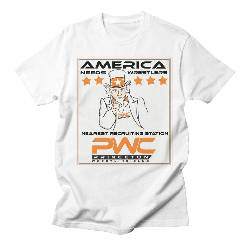 Uncle Sam Logo  Men's Regular T-Shirt by PWC's Artist Shop