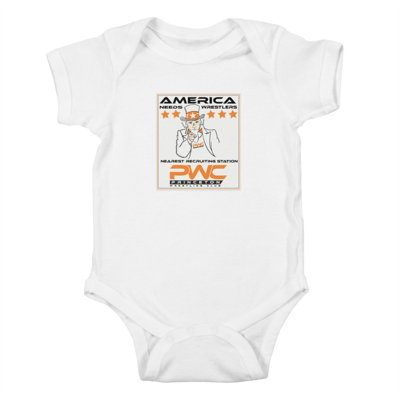Uncle Sam Logo  Kids Baby Bodysuit by PWC's Artist Shop