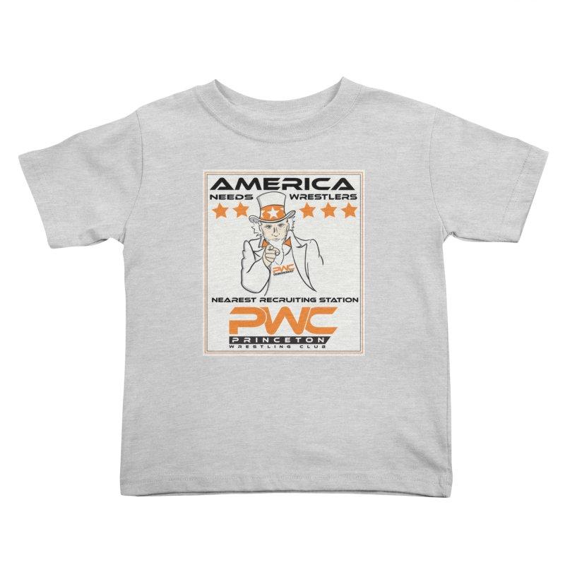 Uncle Sam Logo  Kids Toddler T-Shirt by PWC's Artist Shop
