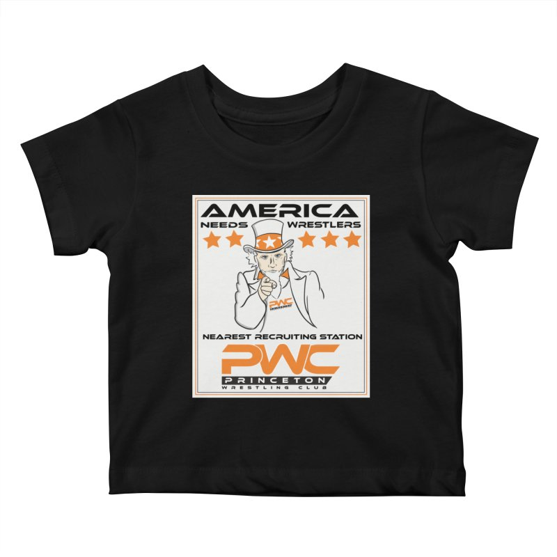 Uncle Sam Logo  Kids Baby T-Shirt by PWC's Artist Shop