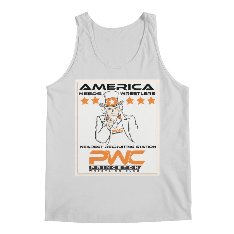 Uncle Sam Logo  Men's Regular Tank by PWC's Artist Shop