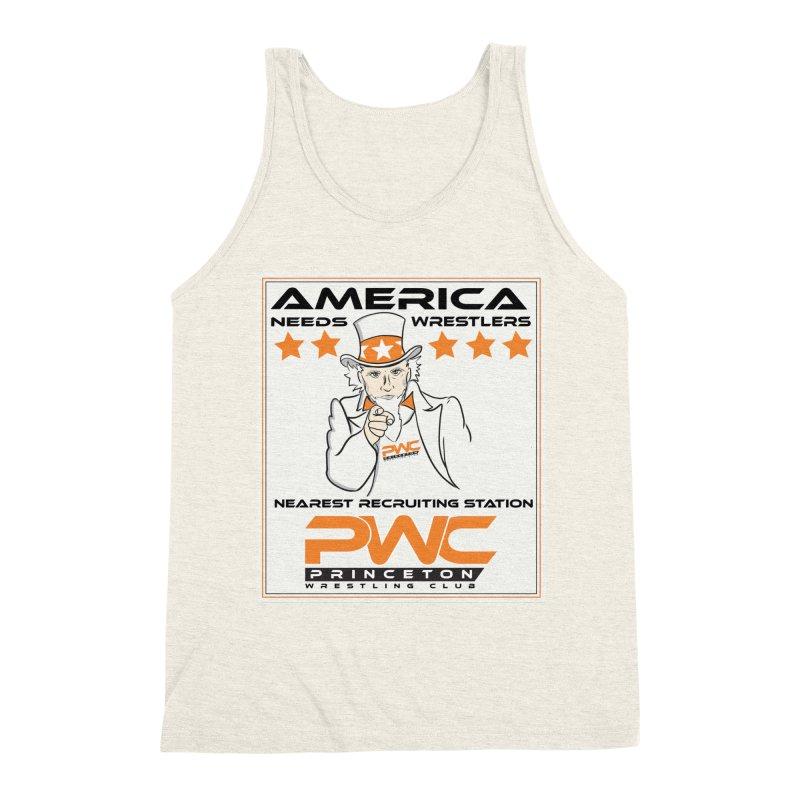 Uncle Sam Logo  Men's Triblend Tank by PWC's Artist Shop