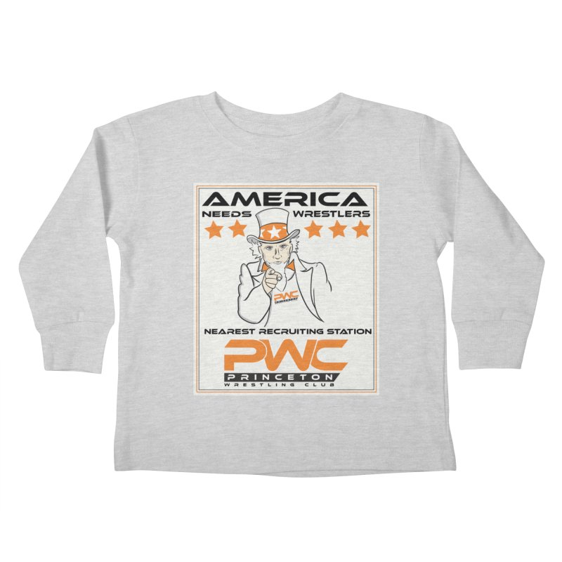 Uncle Sam Logo  Kids Toddler Longsleeve T-Shirt by PWC's Artist Shop