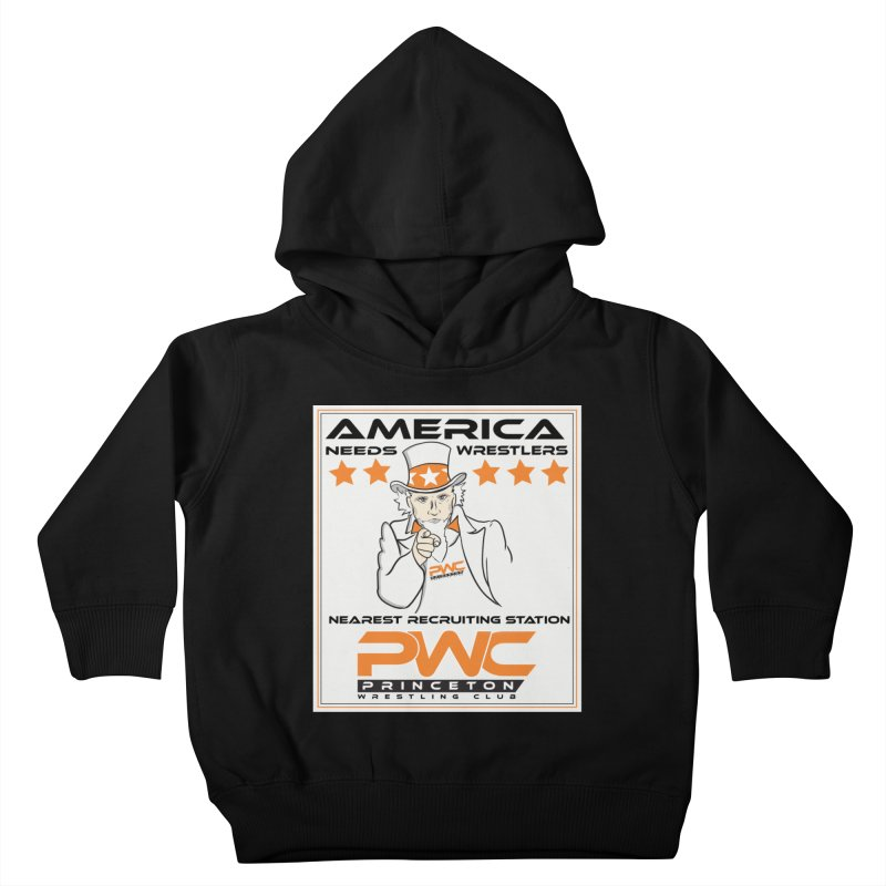 Uncle Sam Logo  Kids Toddler Pullover Hoody by PWC's Artist Shop