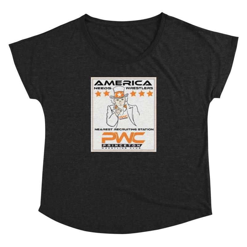 Uncle Sam Logo  Women's Dolman Scoop Neck by PWC's Artist Shop