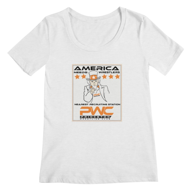 Uncle Sam Logo  Women's Regular Scoop Neck by PWC's Artist Shop