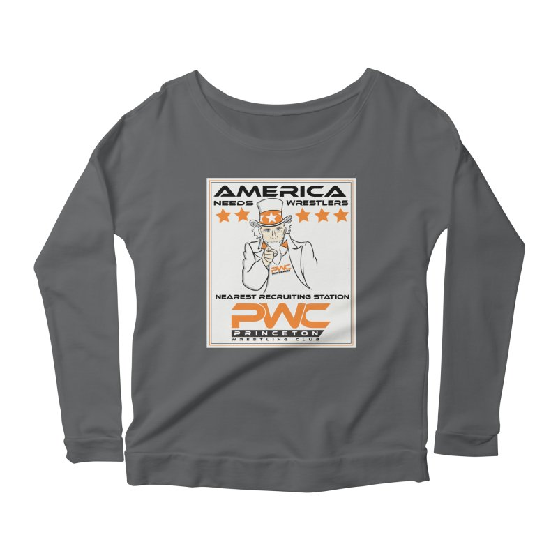 Uncle Sam Logo  Women's Longsleeve T-Shirt by PWC's Artist Shop