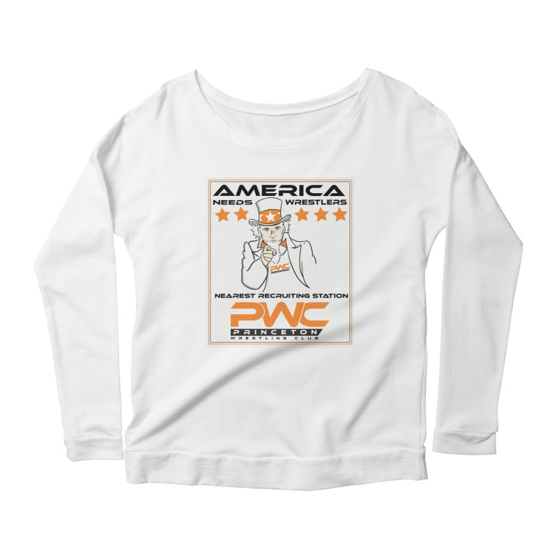 Uncle Sam Logo  Women's Longsleeve T-Shirt by PWC's Artist Shop