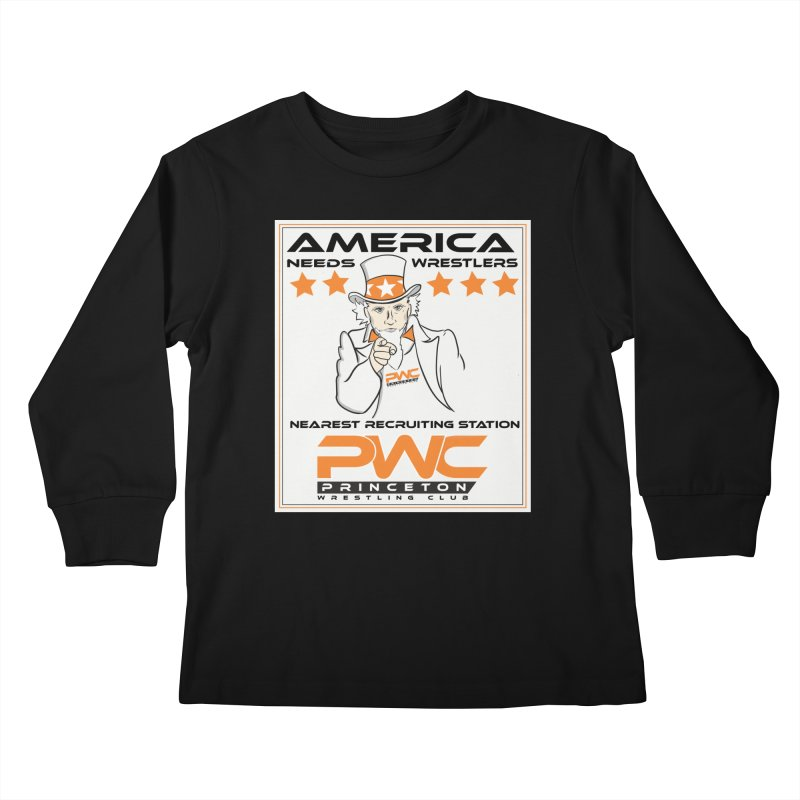 Uncle Sam Logo  Kids Longsleeve T-Shirt by PWC's Artist Shop