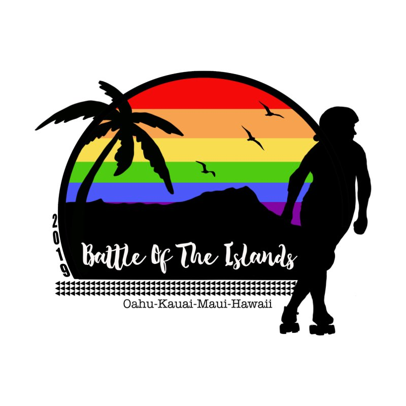 Battle of the Islands 2019 Men's T-Shirt by Pacific Roller Derby's Merchandise Store