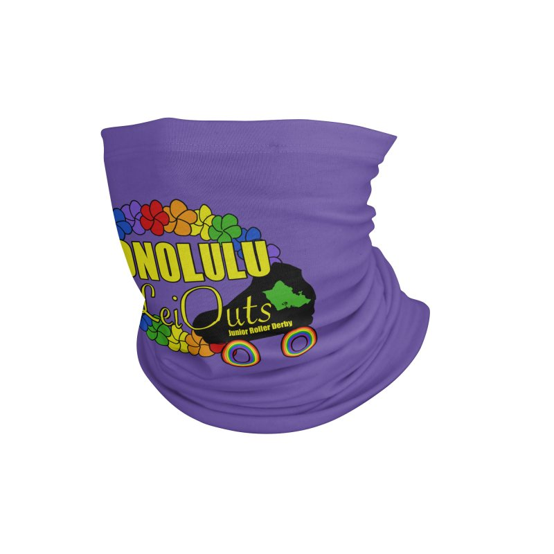 Official LeiOuts Merch (multiple colors) Accessories Neck Gaiter by Pacific Roller Derby's Merchandise Store