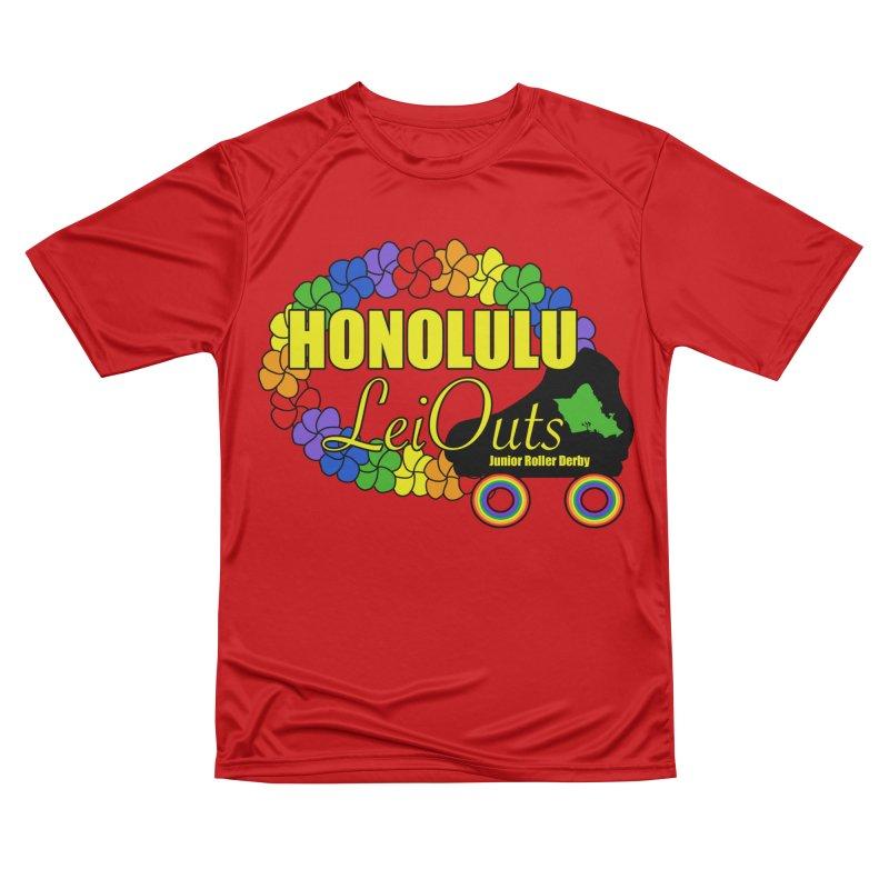 Official LeiOuts Merch (multiple colors) Men's Performance T-Shirt by Pacific Roller Derby's Merchandise Store
