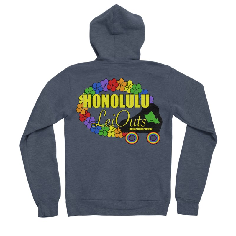 Official LeiOuts Merch (multiple colors) Women's Sponge Fleece Zip-Up Hoody by Pacific Roller Derby's Merchandise Store