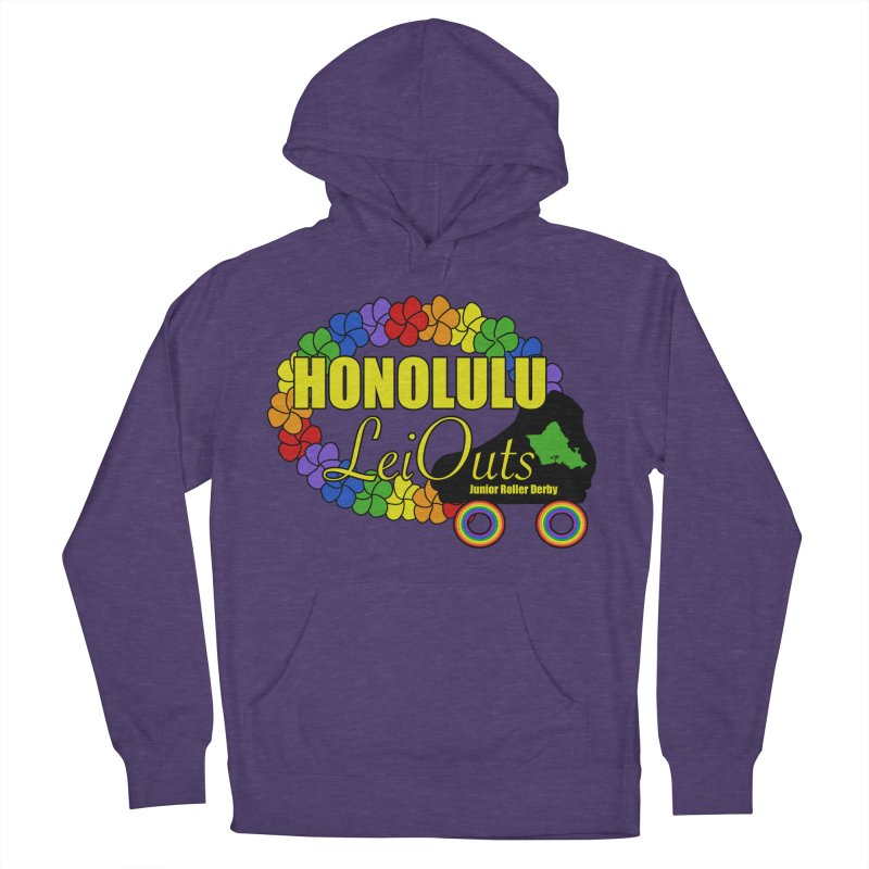 Official LeiOuts Merch (multiple colors) Men's French Terry Pullover Hoody by Pacific Roller Derby's Merchandise Store