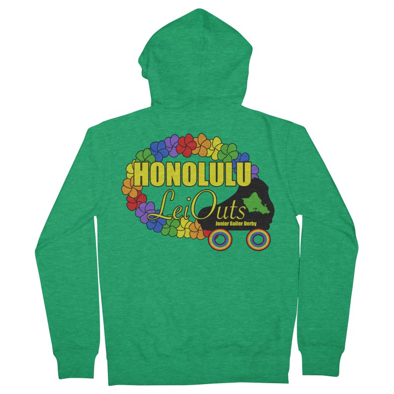 Official LeiOuts Merch (multiple colors) Women's French Terry Zip-Up Hoody by Pacific Roller Derby's Merchandise Store