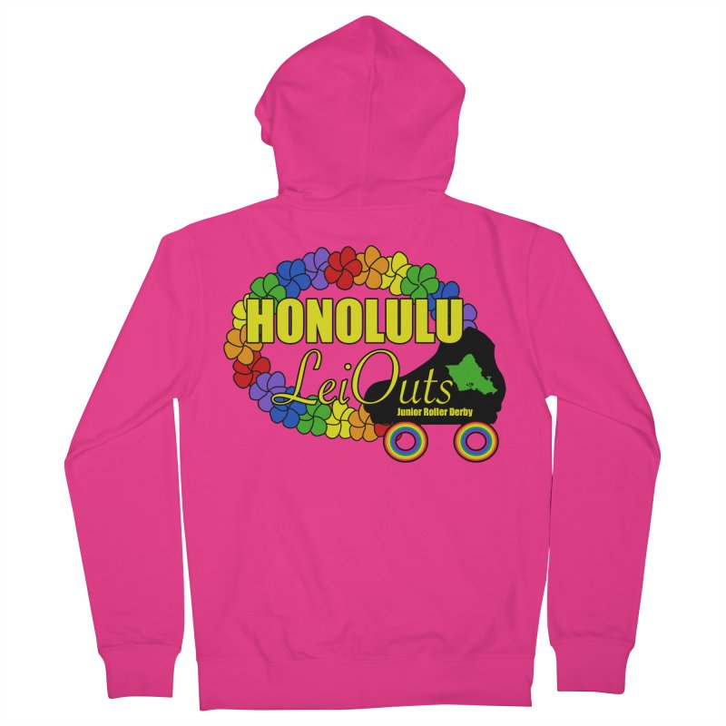 Official LeiOuts Merch (multiple colors) Men's French Terry Zip-Up Hoody by Pacific Roller Derby's Merchandise Store