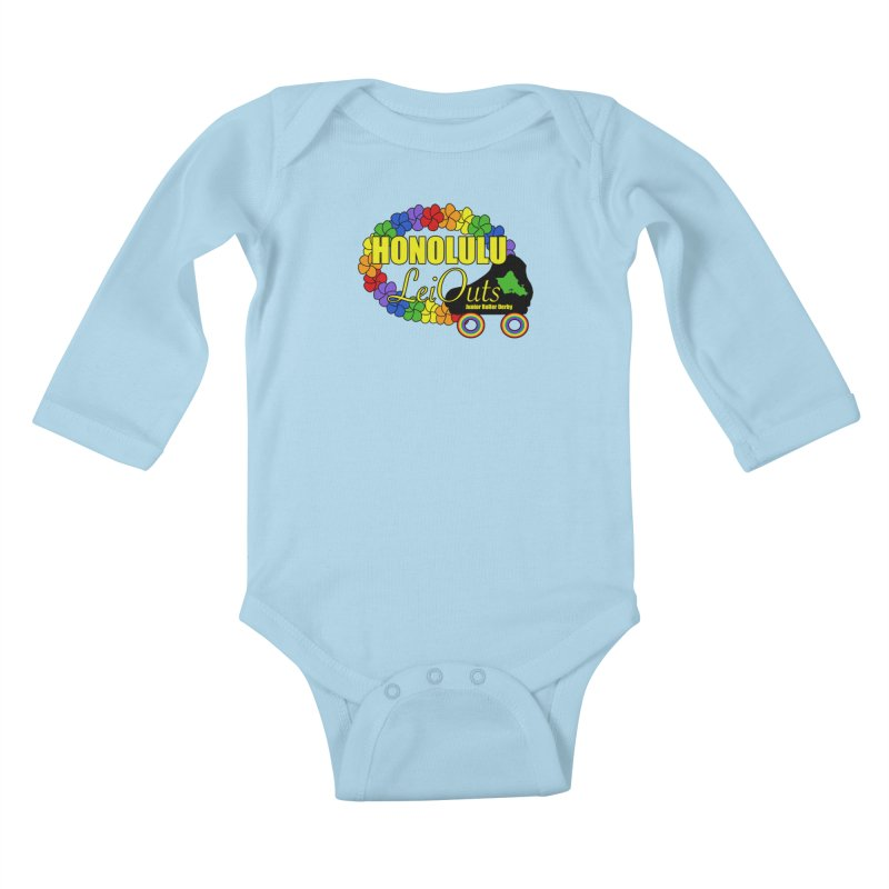 Official LeiOuts Merch (multiple colors) Kids Baby Longsleeve Bodysuit by Pacific Roller Derby's Merchandise Store