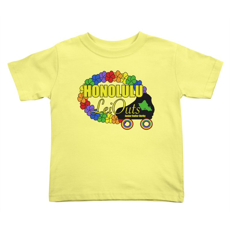 Official LeiOuts Merch (multiple colors) Kids Toddler T-Shirt by Pacific Roller Derby's Merchandise Store