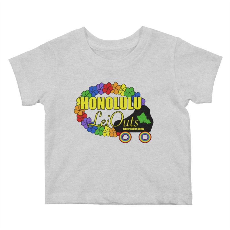 Official LeiOuts Merch (multiple colors) Kids Baby T-Shirt by Pacific Roller Derby's Merchandise Store