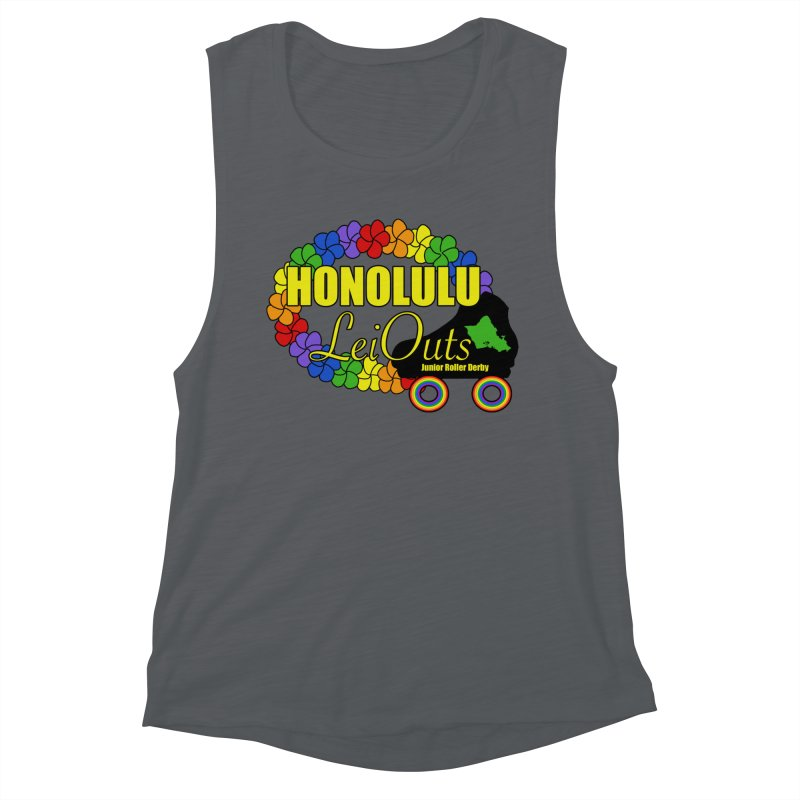 Official LeiOuts Merch (multiple colors) Women's Muscle Tank by Pacific Roller Derby's Merchandise Store