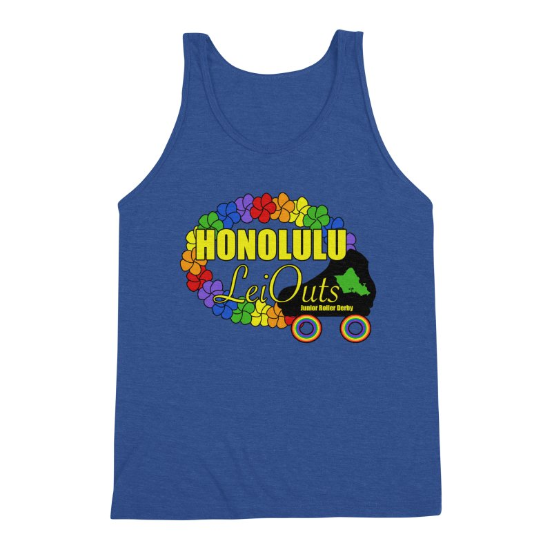 Official LeiOuts Merch (multiple colors) Men's Triblend Tank by Pacific Roller Derby's Merchandise Store