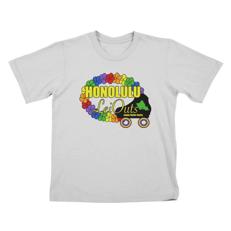 Official LeiOuts Merch (multiple colors) Kids T-Shirt by Pacific Roller Derby's Merchandise Store