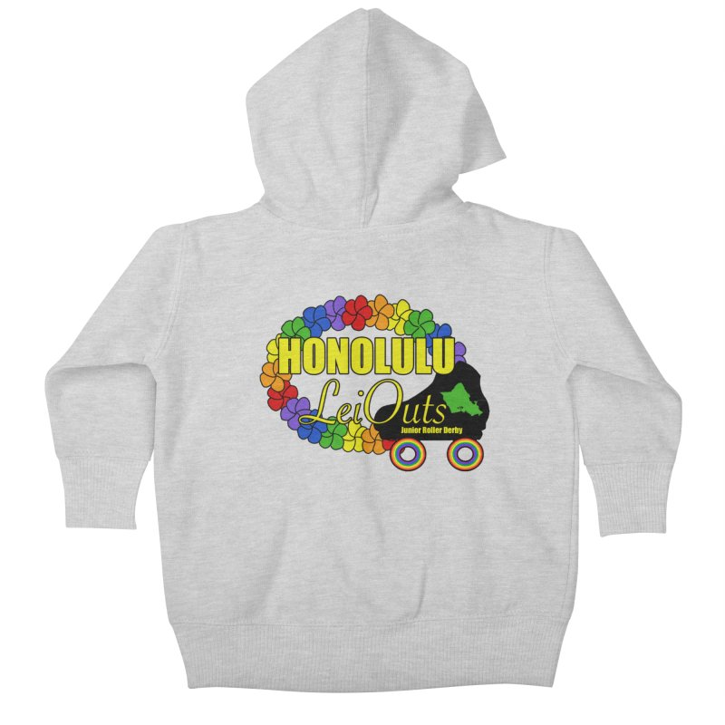 Official LeiOuts Merch (multiple colors) Kids Baby Zip-Up Hoody by Pacific Roller Derby's Merchandise Store
