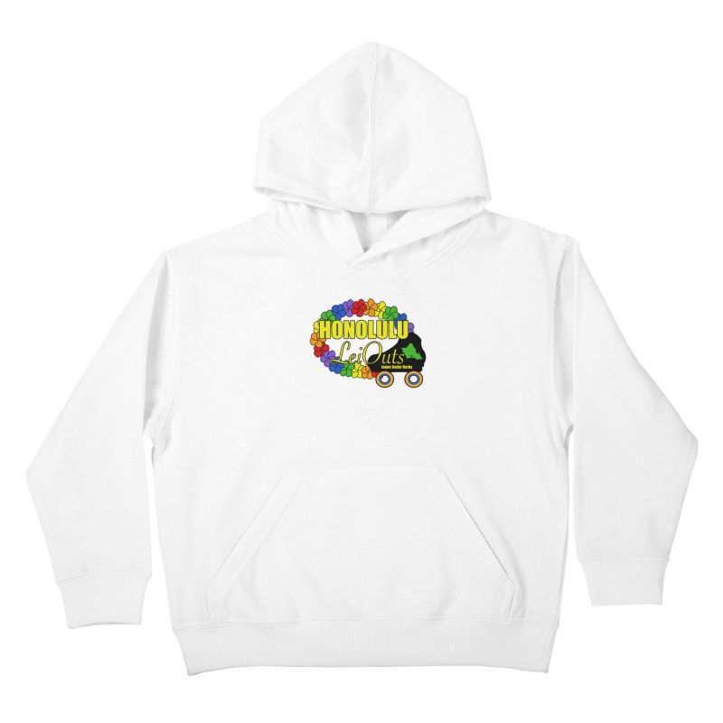 Official LeiOuts Merch (multiple colors) Kids Pullover Hoody by Pacific Roller Derby's Merchandise Store