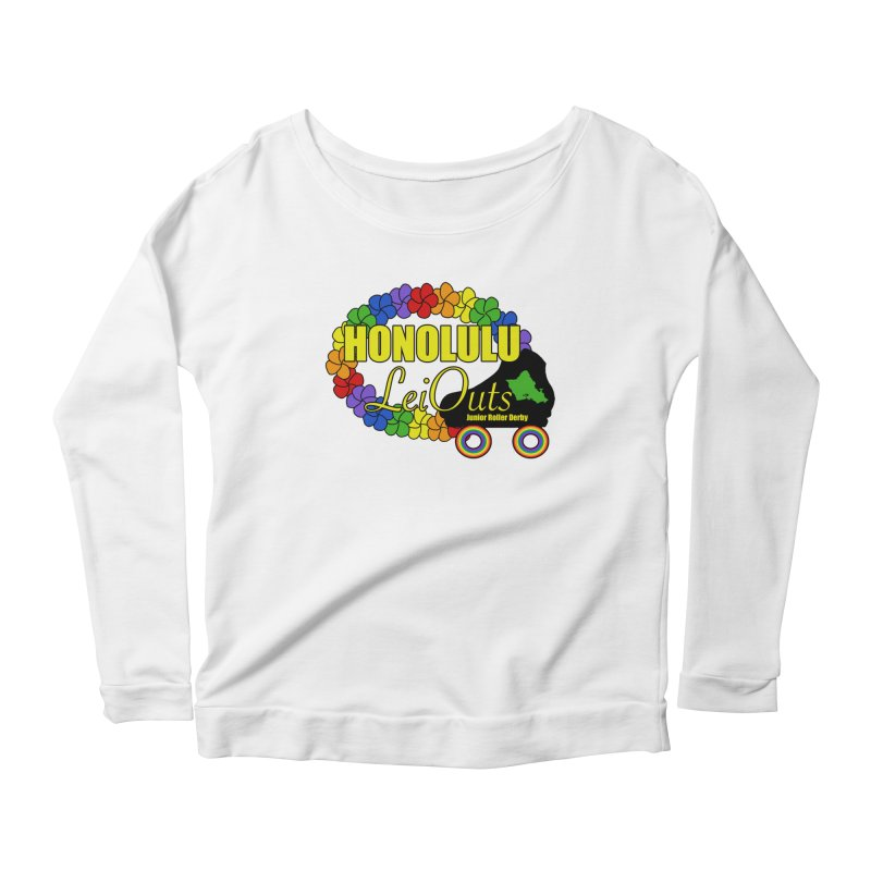 Official LeiOuts Merch (multiple colors) Women's Scoop Neck Longsleeve T-Shirt by Pacific Roller Derby's Merchandise Store