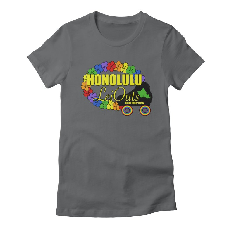 Official LeiOuts Merch (multiple colors) Women's Fitted T-Shirt by Pacific Roller Derby's Merchandise Store