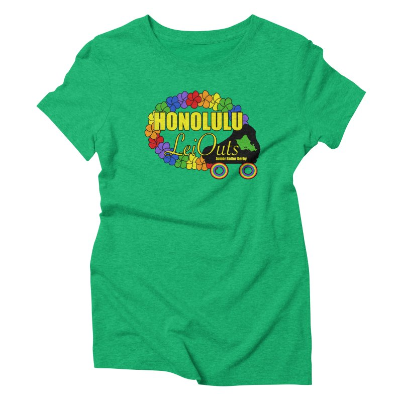 Official LeiOuts Merch (multiple colors) Women's Triblend T-Shirt by Pacific Roller Derby's Merchandise Store