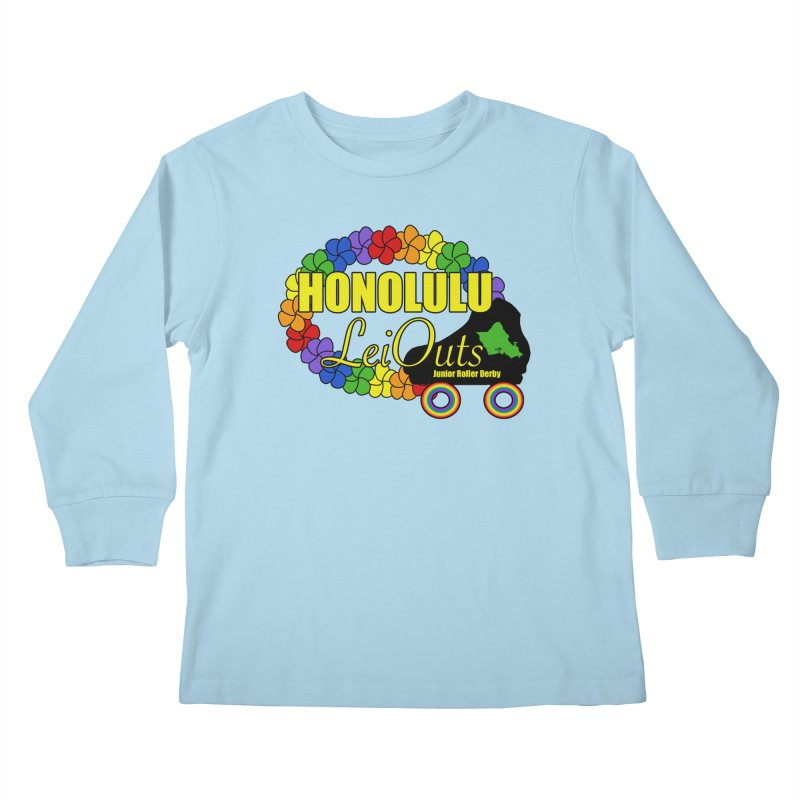 Official LeiOuts Merch (multiple colors) Kids Longsleeve T-Shirt by Pacific Roller Derby's Merchandise Store