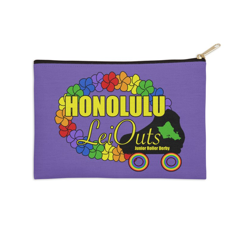Official LeiOuts Merch (multiple colors) Accessories Zip Pouch by Pacific Roller Derby's Merchandise Store