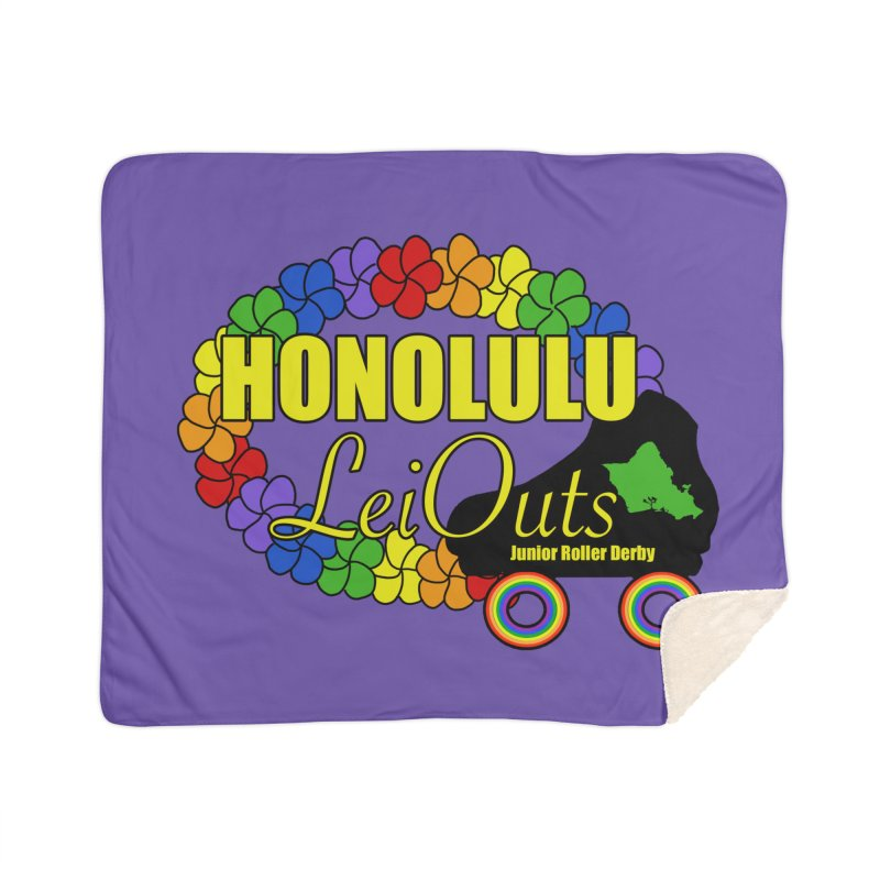 Official LeiOuts Merch (multiple colors) Home Sherpa Blanket Blanket by Pacific Roller Derby's Merchandise Store