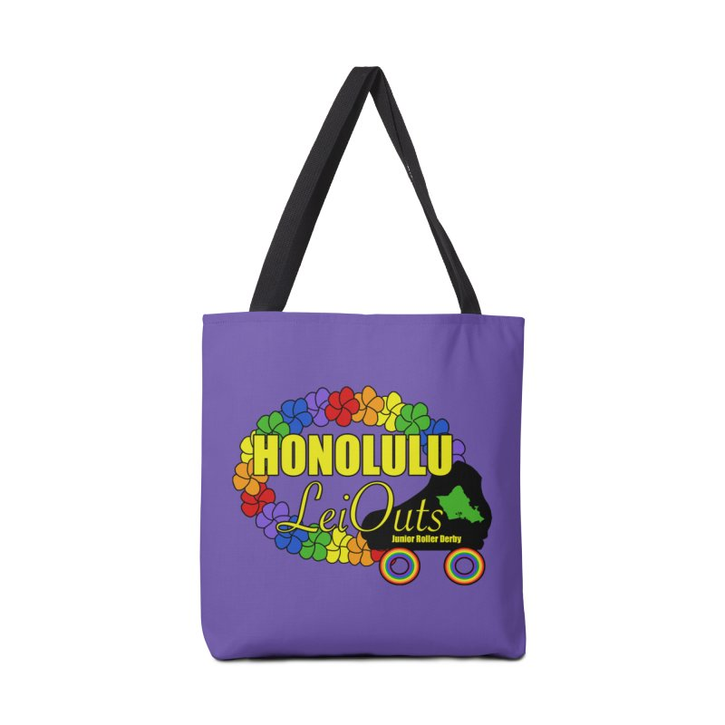 Official LeiOuts Merch (multiple colors) Accessories Tote Bag Bag by Pacific Roller Derby's Merchandise Store