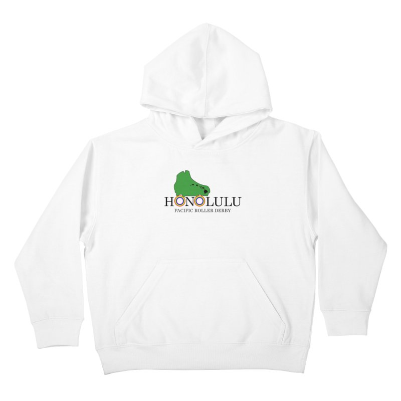 PRD Merch (white and light grey) Kids Pullover Hoody by Pacific Roller Derby's Merchandise Store
