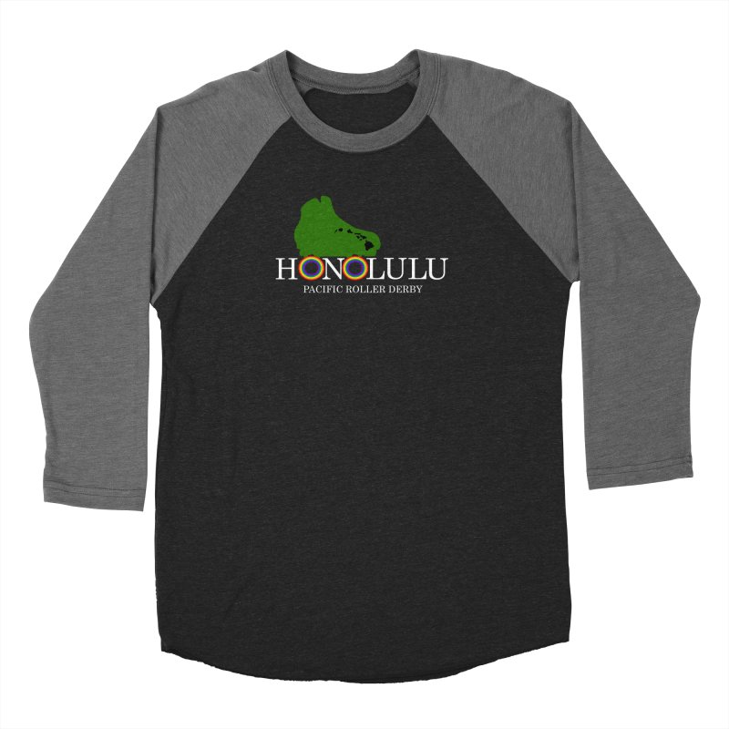 PRD Merch (black and dark grey) Women's Longsleeve T-Shirt by Pacific Roller Derby's Merchandise Store