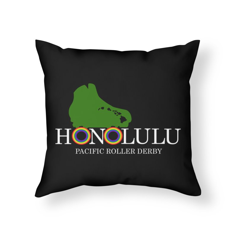 PRD Merch (black and dark grey) Home Throw Pillow by Pacific Roller Derby's Merchandise Store