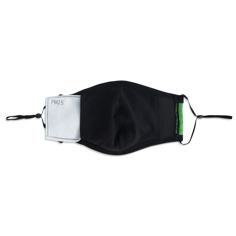 Official PRD Merch (green) Accessories Face Mask by Pacific Roller Derby's Merchandise Store