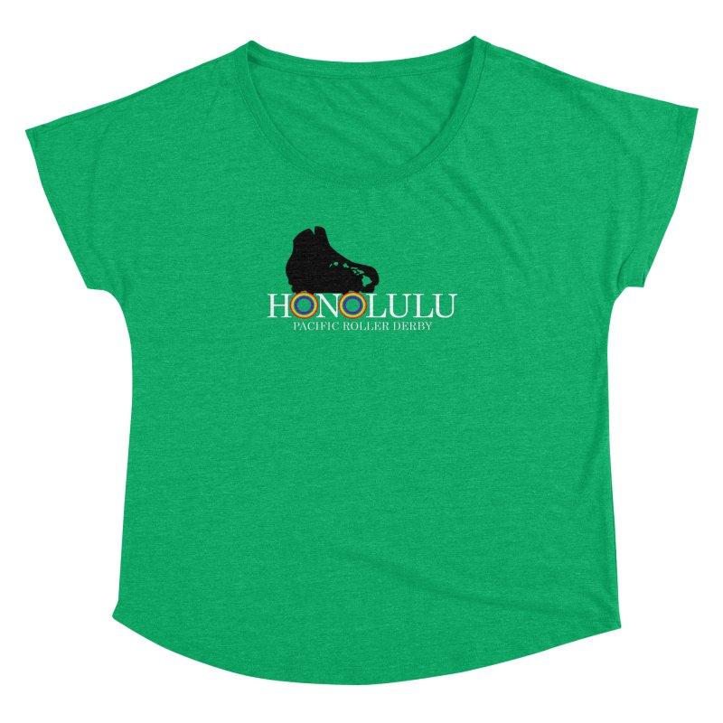 Official PRD Merch (green) Women's Dolman Scoop Neck by Pacific Roller Derby's Merchandise Store