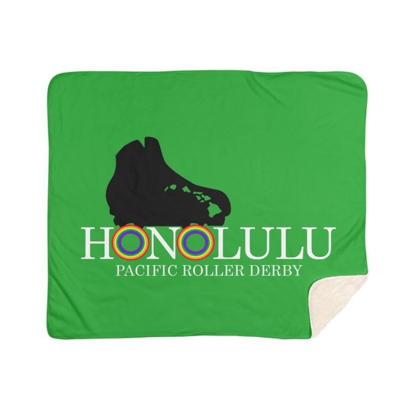 Official PRD Merch (green) Home Sherpa Blanket Blanket by Pacific Roller Derby's Merchandise Store