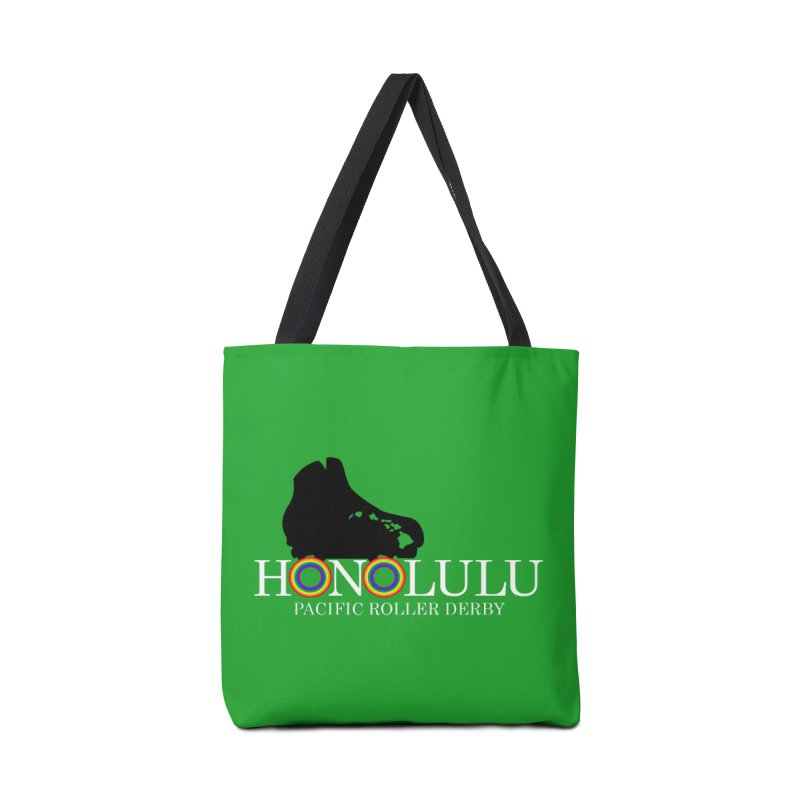 Official PRD Merch (green) Accessories Tote Bag Bag by Pacific Roller Derby's Merchandise Store