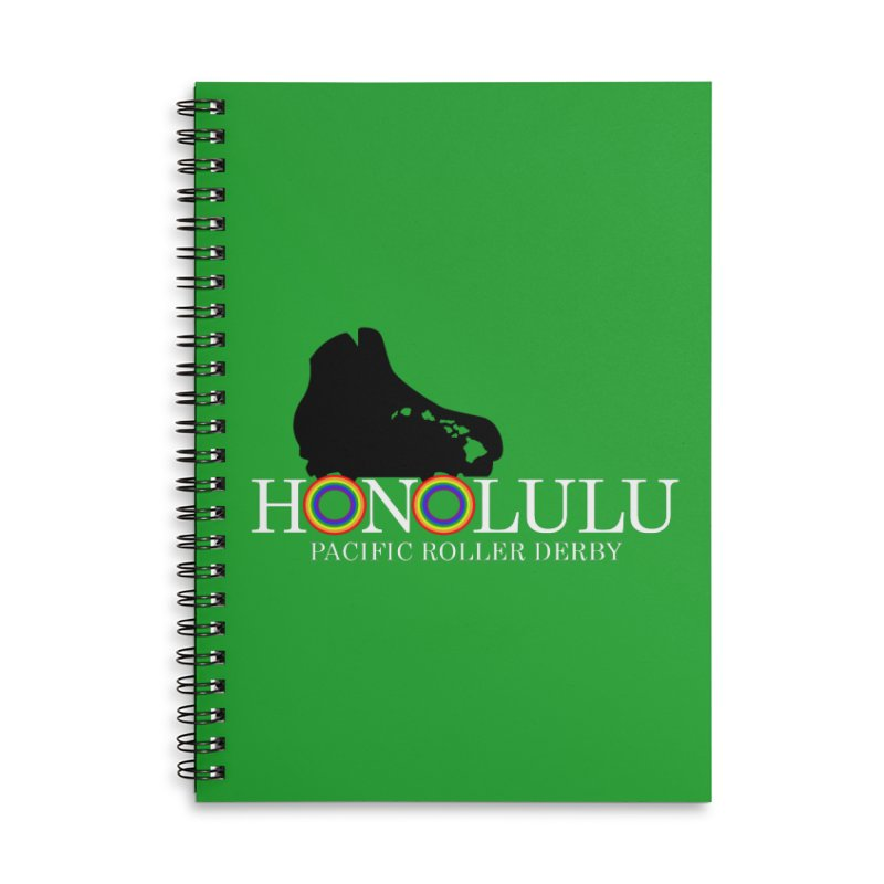 Official PRD Merch (green) Accessories Notebook by Pacific Roller Derby's Merchandise Store