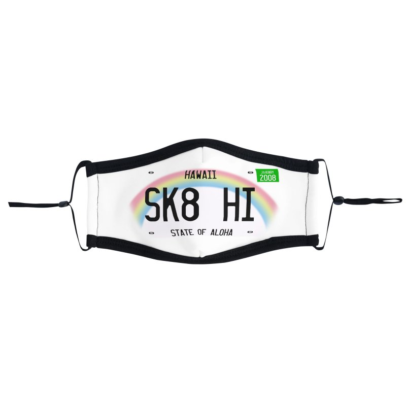 SK8 HI Accessories Face Mask by Pacific Roller Derby's Merchandise Store