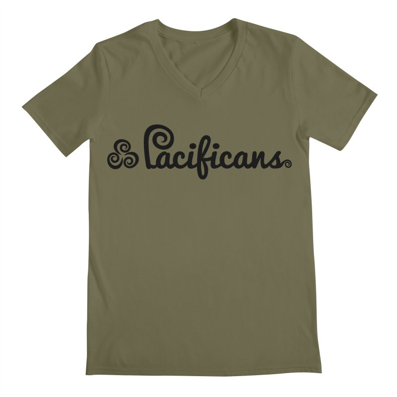 Pacificans logo Men's Regular V-Neck by Pacificans' Artist Shop
