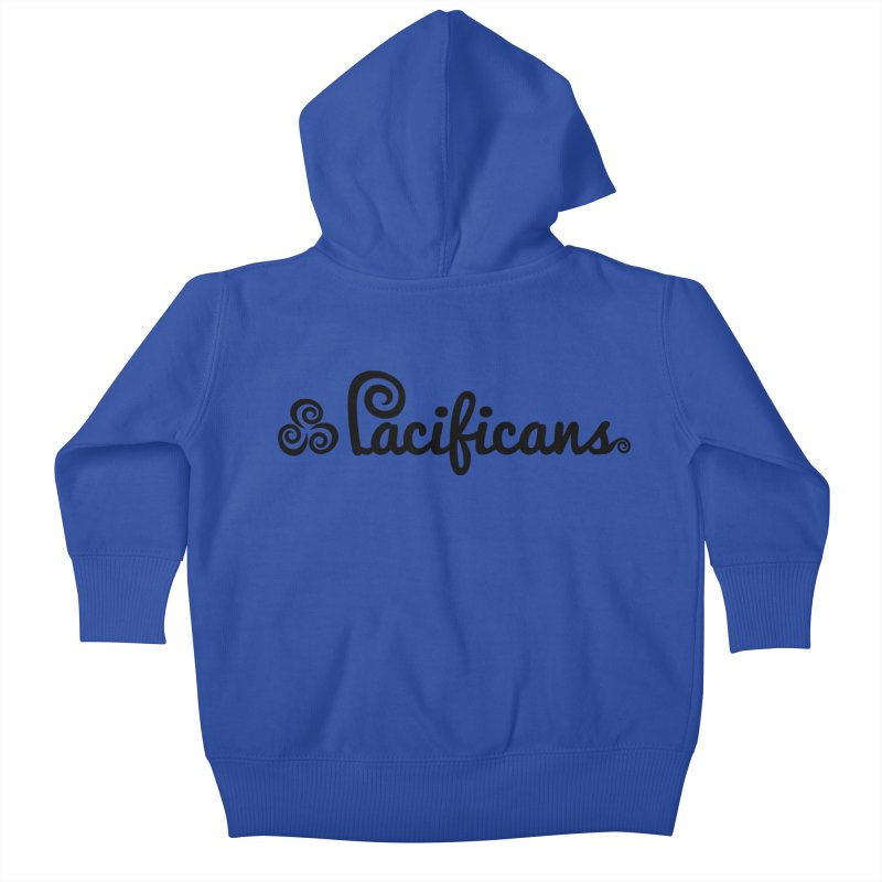 Pacificans logo Kids Baby Zip-Up Hoody by Pacificans' Artist Shop